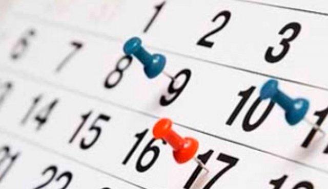 Calendario días festivos. Foto vía Diario La Opinión de Cúcuta.